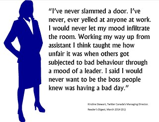 "Quotation:  ""I've never slammed a door...."""
