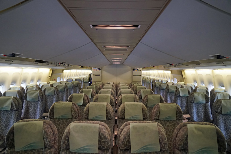EVA Air Economy Class Cabin