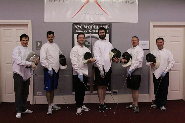 Our Bible study group goes fencing