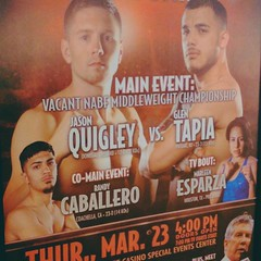 Tomorrow catch @jayquigley1 LIVE as he steps on the scales. Weigh-ins can be viewed on RingTV.com 1pm PST #TeamQuigley🍀 #ElAnimal🐅