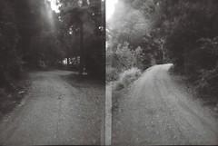 Gravel road via half-frame