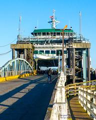 Pedestrians Wating to Disembark Ze MV Tokitae
