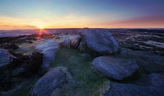 Sunrise at Stanage