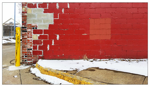 pittsburgh urbanlandscape wall decay red