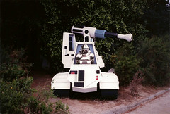 Universal Studios Hollywood - Backlot - BSG Battlestar Galactica Cylon in Gun Vehicle - 1987