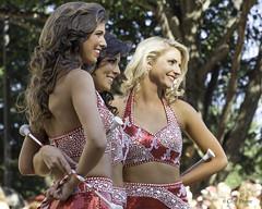 Crimsonettes Pose for Fan Photo - Elephant Stomp - Ole Miss Game Day 2013-9009
