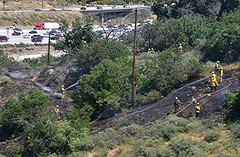 Granada Hills Vegetation Fire Held to Less than 1 Acre