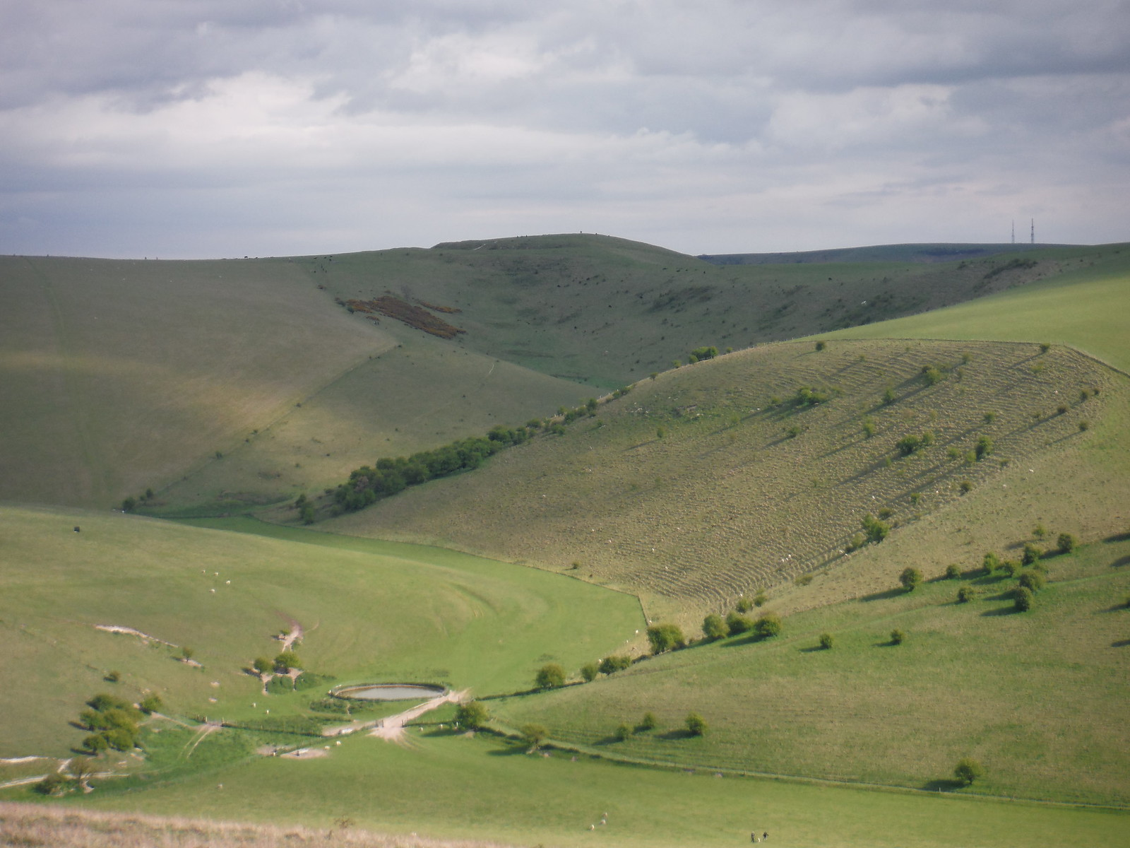 View up Caburn Bottom to Caburn Hillfort SWC Walk 272 Uckfield to Lewes