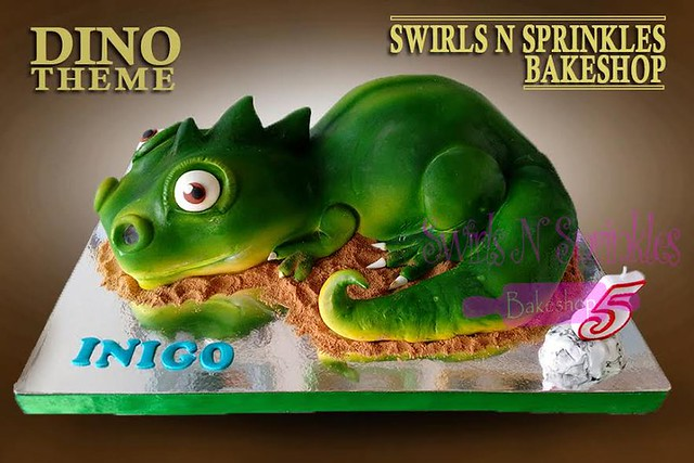 Dinosaur Cake by Swirls N Sprinkles