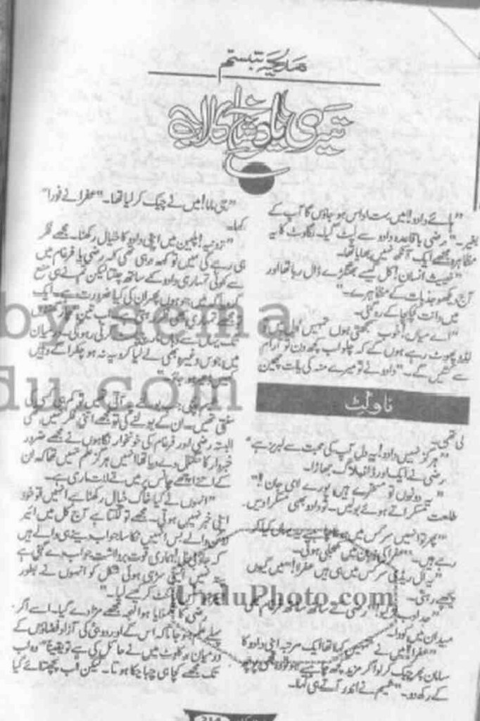 Teri Yad Shakh E Gulab  is a very well written complex script novel which depicts normal emotions and behaviour of human like love hate greed power and fear, writen by Madiha Tabassum , Madiha Tabassum is a very famous and popular specialy among female readers