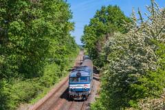 24 avril 2017 BB 67496 Train 3831 Nantes -> Bordeaux Marsas (33) - Photo of Cavignac