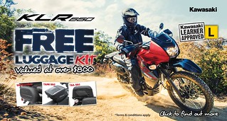 KLR 650 Free Genuine Luggage Kit