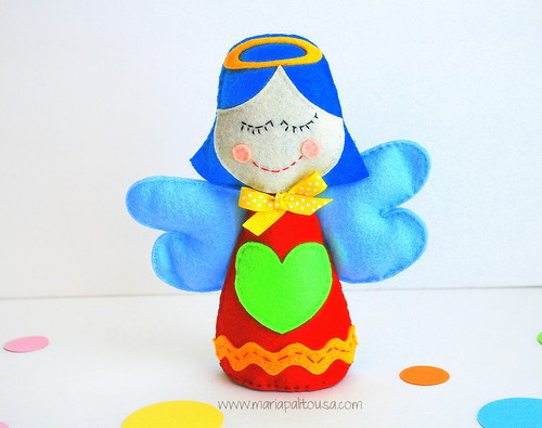 Little Angel Toys : Diy little angel felt toy sewing pattern the