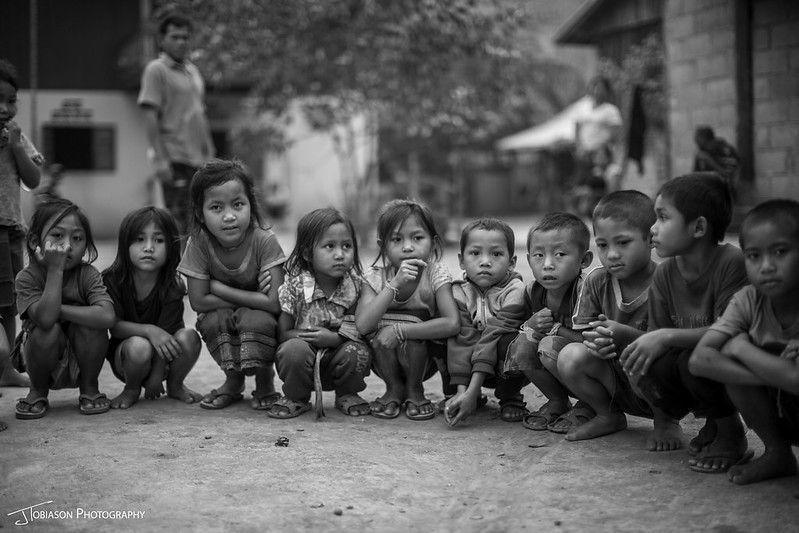 Kids in Laos Village