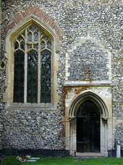 Unexplained altered doorway, the Church of St James, Castle Acre, Norfolk. England