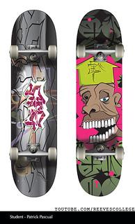 Skateboard Deck Design Adobe Illustrator CS6 by Reeves College Student Patrick P