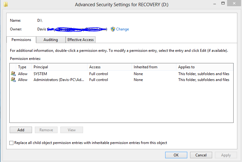 Hard Drive Access Denied, including permissions  | Tom's Hardware Forum