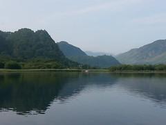 Boating on Derwent Water, July 2013.
