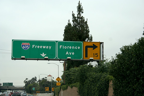 Florence Ave -- found a sign with my mom's name, too