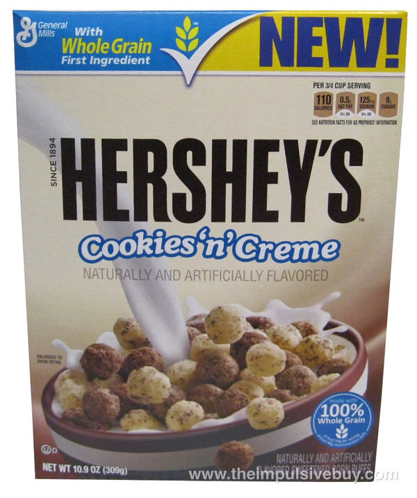 Hershey's Cookies 'n' Creme Corn Puff Cereal Box | Flickr ... Hershey Cookies And Cream Cereal