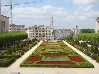 130 Brussel kunstberg uitzicht stadhuis