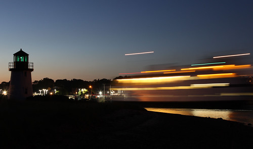 sunset lighthouse ferry boats boat capecod cape lighttrails hyannis