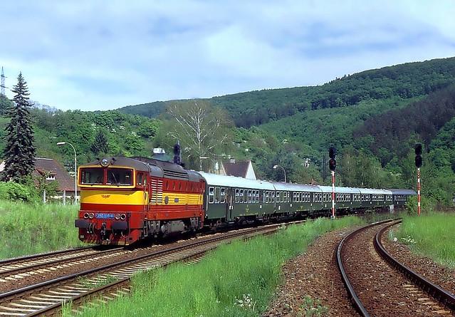 750 160-4, Brno-Maloměřice, odb. Hády, Os 4745 (Letovice – Brno hl.n.), 16.5.1994