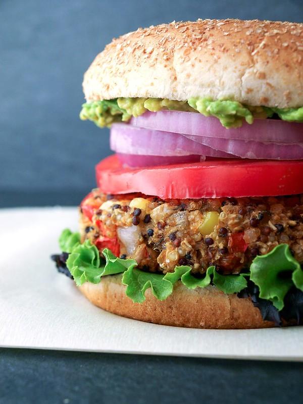Quinoa & White Bean Veggie Burger Complete
