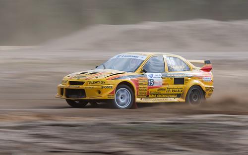 car sport race panning supercar mitsubishi src rx rallycross motorsport rajala rallicross