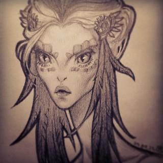 Змееженщина. #drawing