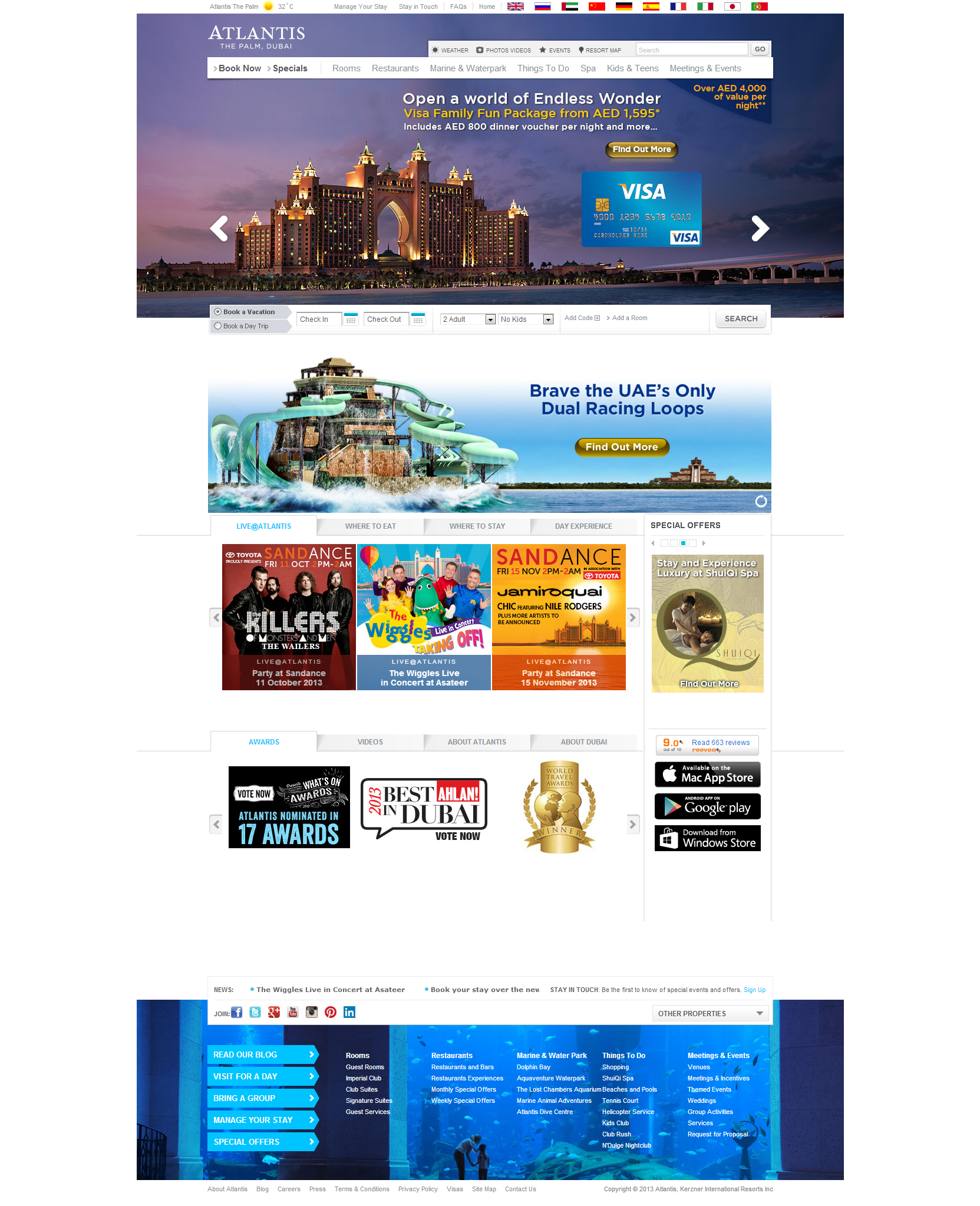 Website Inspiration - Atlantis the Palm Hotel