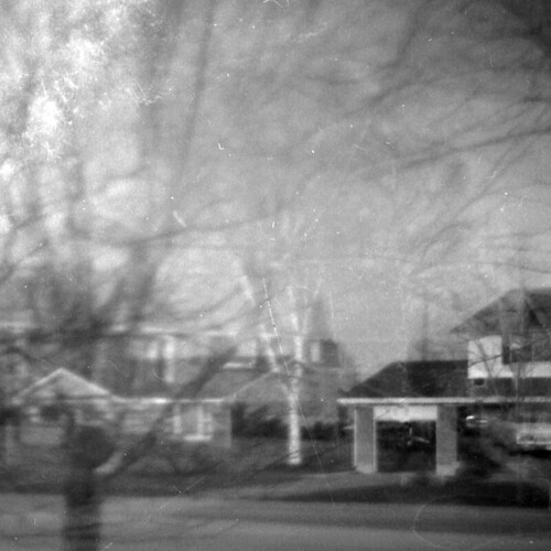 street blackandwhite bw house ontario canada film monochrome 35mm toycamera kingston squareformat 135 neighbourhood plasticcamera subdivision unknownmailorderreallyreallycrappycamera