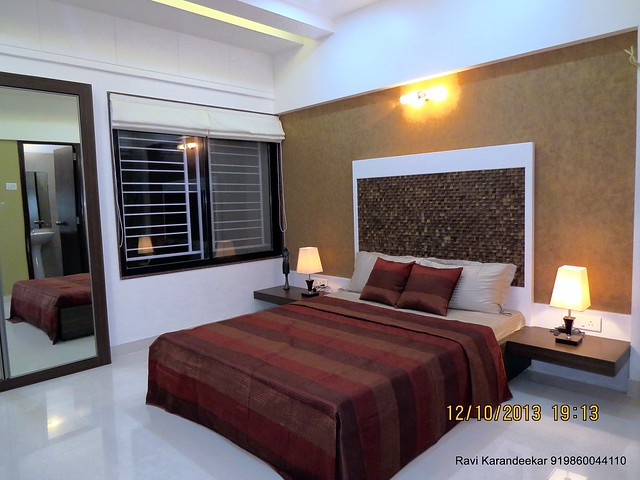Master Bedroom - Visit 2 BHK Show Flat of Venkatesh Lake Life, Phase 1 - 1 BHK 2 BHK Flats & Shops on Dattanagar Jambhulwadi Road, Ambegaon Khurd, Pune