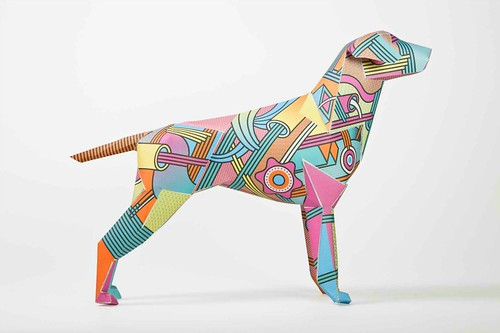 super-gerald-paper dog-sculpture-by-supermundane