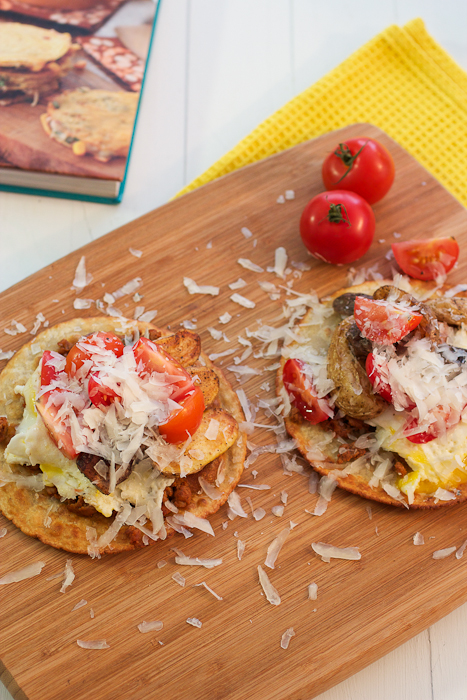 Chorizo and Cumin Roasted Fingerling Potatoes Breakfast Tostadas #CookbookSpotlight #TheNewSouthwest