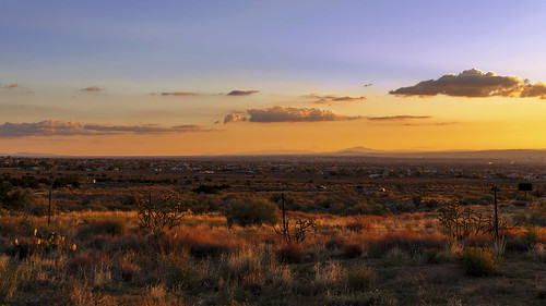 sunset sky newmexico clouds landscape desert albuquerque