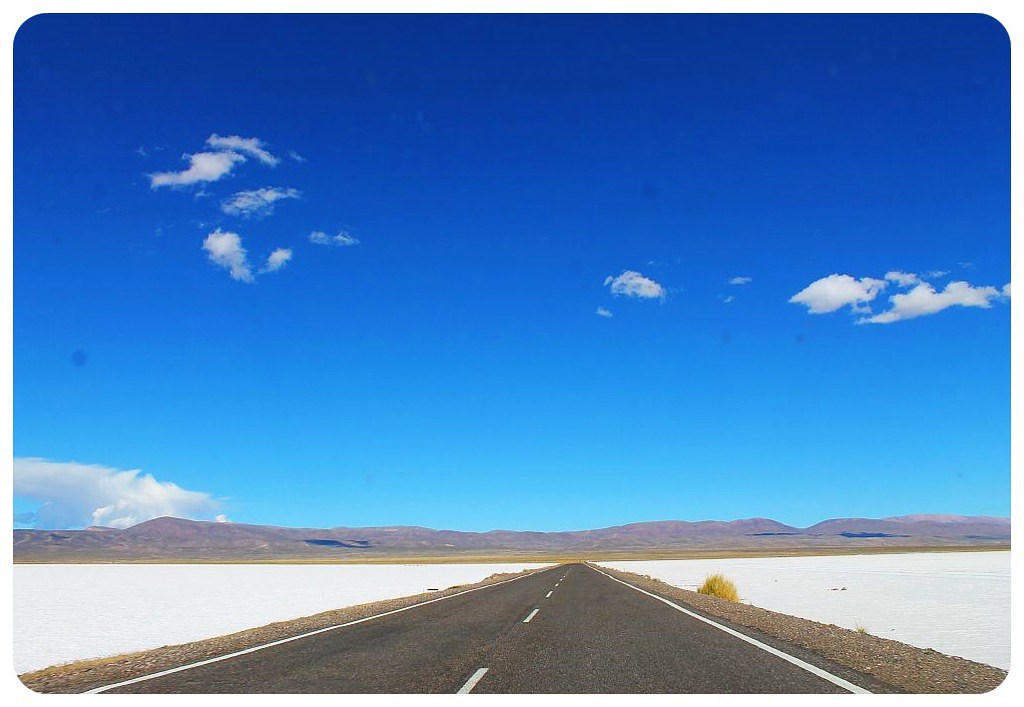 road through salinas grandes salt flats