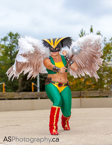Hawkwoman at Hammer Town Comic Con 2013 by andreas_schneider