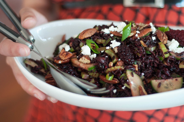 crunchy green wild rice salad