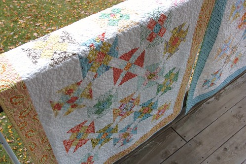 Double Wrench Baby Quilt - c