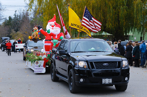 Lions float in the Christmas Parade