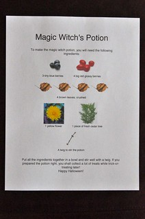 Magic Witch Potion Scavenger Hunt