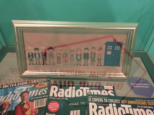 Doctor Who and Me Exhibition cross stitch