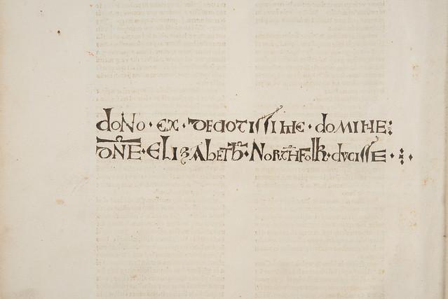 Donation inscription in Anonymous: Pharetra doctorum et philosophorum