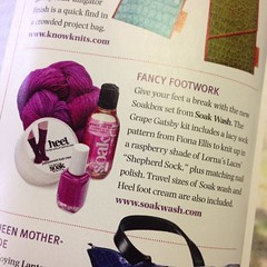 Thanks #knitsimplemagazine  for including Soakboxes in holiday knits picks! Free shipping soakwash.com through Dec 10! Hop to it!