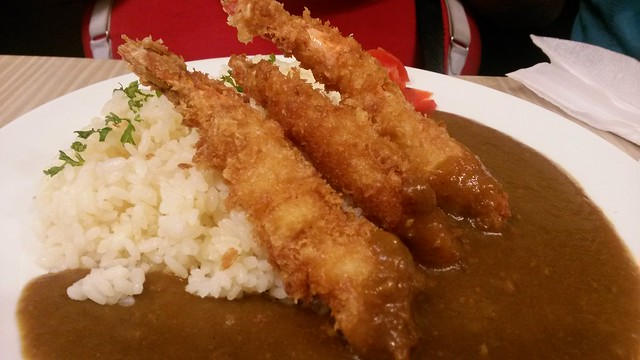 Shrimp curry rice