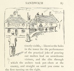"""British Library digitised image from page 101 of """"The Z.Z.G, or Zig Zag Guide round and about the bold and beautiful Kentish coast ... Illustrated by Phil May"""""""
