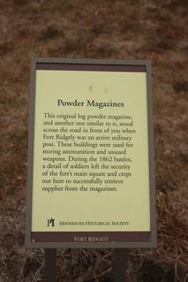 powder magazine sign