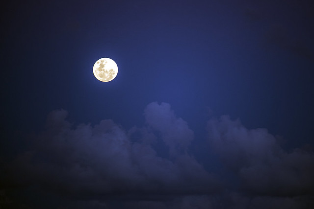 Moon over the Clouds