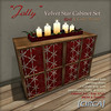 25 for 25 Hunt Gift - [CIRCA] - Jolly - Velvet Star Cabinet - Red & Gold Wood